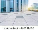 empty pavement front of modern... | Shutterstock . vector #448518556