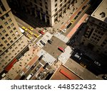 bird's eye view of manhattan ... | Shutterstock . vector #448522432