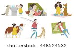 Stock vector pet with human relationship vector illustration 448524532