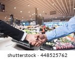 business handshake closing a... | Shutterstock . vector #448525762
