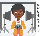 an african american woman... | Shutterstock .eps vector #448527238