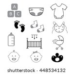 baby items neutral | Shutterstock .eps vector #448534132