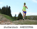 healthy young woman trail... | Shutterstock . vector #448535986