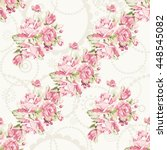 seamless floral pattern with... | Shutterstock .eps vector #448545082