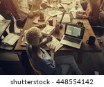 business office connection... | Shutterstock . vector #448554142