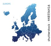 map of europe | Shutterstock .eps vector #448556416