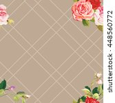 seamless floral pattern three... | Shutterstock .eps vector #448560772