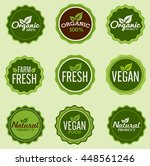 organic badges and labels | Shutterstock .eps vector #448561246