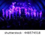 hollywood  ca oct 24  dj calvin ... | Shutterstock . vector #448574518