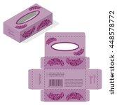 tissue wet wipes handkerchief... | Shutterstock .eps vector #448578772