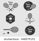 set of vintage graphics and... | Shutterstock .eps vector #448579192