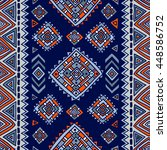 traditional tribal pattern in... | Shutterstock .eps vector #448586752