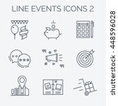 thin line and flat icons of... | Shutterstock .eps vector #448596028