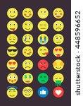 set of emoji. emoticons flat set   Shutterstock .eps vector #448596652