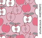 red apple seamless pattern | Shutterstock .eps vector #448598692