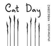 vector illustration of the cats ... | Shutterstock .eps vector #448610842