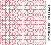 entwined modern pattern  based... | Shutterstock .eps vector #448611166