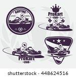 set for karting emblem. extreme ... | Shutterstock .eps vector #448624516