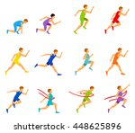 vector marathon road race... | Shutterstock .eps vector #448625896