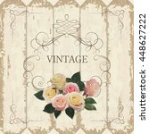 romantic vintage frame on a... | Shutterstock .eps vector #448627222