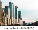 photo of skyscrapers near... | Shutterstock . vector #448628056