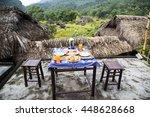 perfect healthy breakfast on...   Shutterstock . vector #448628668