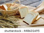 white bread or sliced bread in... | Shutterstock . vector #448631695