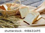 white bread or sliced bread in... | Shutterstock . vector #448631695
