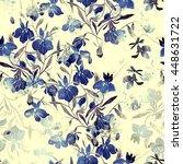 imprints meadow flowers. hand...   Shutterstock . vector #448631722