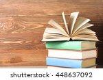 open book  hardback books on... | Shutterstock . vector #448637092