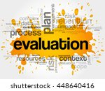 evaluation word cloud collage ... | Shutterstock .eps vector #448640416