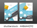 annual report cover. geometric... | Shutterstock .eps vector #448644292