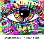 original abstract digital... | Shutterstock .eps vector #448645405