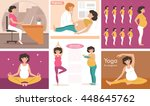 seth with pregnant women.... | Shutterstock .eps vector #448645762