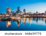 london cityscape during sunrise ... | Shutterstock . vector #448659775