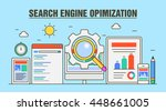 search engine optimization... | Shutterstock .eps vector #448661005