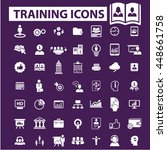 training icons | Shutterstock .eps vector #448661758
