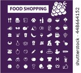 food shopping icons | Shutterstock .eps vector #448664152