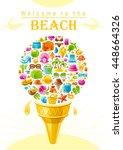 Beach Sea Summer Design With...