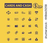 cards and cash icons | Shutterstock .eps vector #448665058