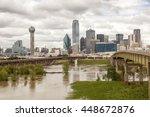 dallas downtown skyline view...   Shutterstock . vector #448672876