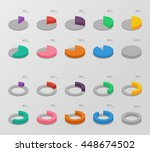 set of color isometric circle... | Shutterstock .eps vector #448674502