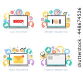 internet marketing vector set | Shutterstock .eps vector #448674526