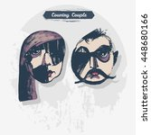 vector country couple... | Shutterstock .eps vector #448680166