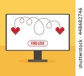 flat design virtual love... | Shutterstock .eps vector #448682746