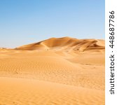 Outdoor Sand Dune In Oman Old...