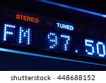 fm tuner radio display. stereo... | Shutterstock . vector #448688152