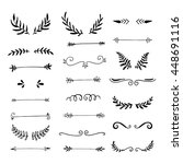collection of handdrawn borders ... | Shutterstock .eps vector #448691116