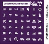 construction business icons | Shutterstock .eps vector #448693252