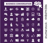 business conversation icons | Shutterstock .eps vector #448694386